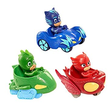 PJ Masks - NUEVA Mask Cartoon Toys Mask Boys con Cars 3pcs figura juguetes para niños