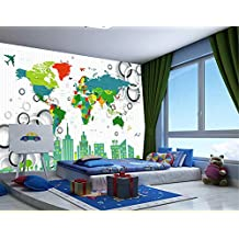 ZLJTYN 240cmX160cm Custom papel DE parede infantil large murals world map used in the living room wall vinyl which papel DE parede
