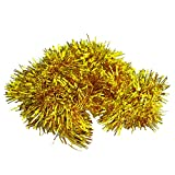 SODIAL(R) 2m (6.5 Ft) Christmas Tinsel Tree Decorations Tinsel Garland (gold)