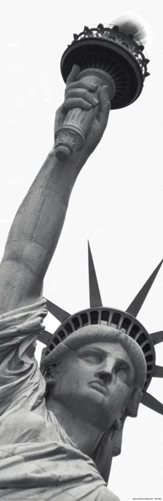 Pyramid America Statue of Liberty New York City NYC Neoclassical Sculpture Black and White Photo Cool Wall Decor Art Print Poster 12x36