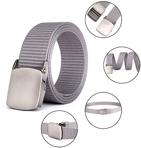 XFentech Mens Elastic Belts Outdoor Leisure Nylon Webbing Waist Belt