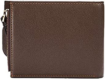 Coffee Faux Leather For Men - Bifold Wallets