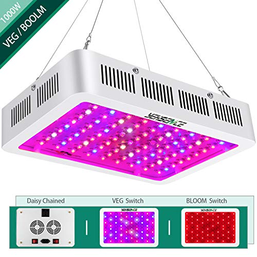 1000w LED Grow Light with Bloom and Veg Switch,Yehsence 15W LED Triple-Chips LED Plant Growing Lamp Full Spectrum with Daisy Chained Design for Professional Indoor Plants,can replace HPS Grow Light