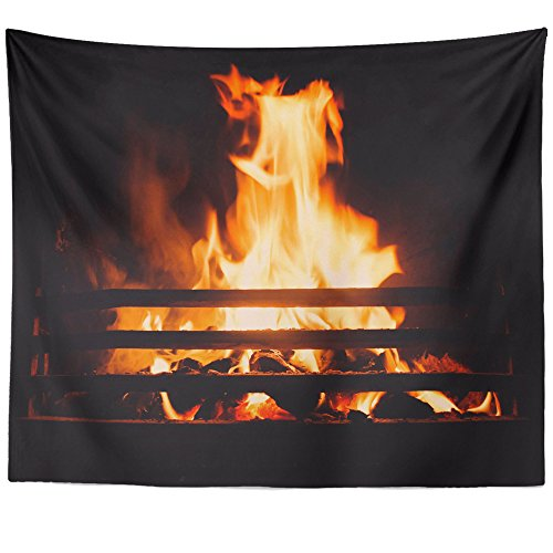 Westlake Art - Fireplace Warmth - Wall Hanging Tapestry - Picture Photography Artwork Home Decor Living Room - 68x80 Inch (5B91-477B2) by Westlake Art