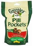 GREENIES PILL POCKETS Soft Dog Treats, Beef, Capsule, 7.9 oz.