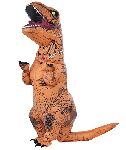 UHC Jurassic World Inflatable T-Rex Manospondylus Outfit Child Halloween Costume, Child M (8-10) - Inflatable T Rex Costume Toddler