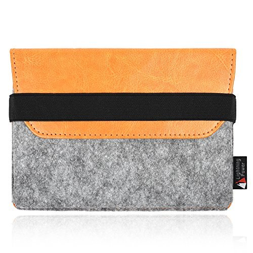 Lightning Power - Premium Felt PU Leather Protection Sleeve case for Apple Magic Trackpad 2 MJ2R2LL/A by Lightning Power
