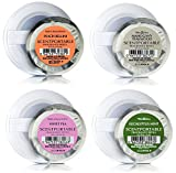 Bath and Body Works Classic Faves Scentportable Bundle of 4 Refill Discs: Eucalyptus Mint, Mahogany Teakwood, Sweet Pea, and Peach Bellini