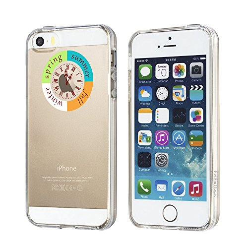 Funda de silicona de IPhone 5/5s/se Plus Vanki®Ultra Delgado TPU superiores estuche blando transparente cristalina clara para Apple IPhone 5/5s/se 8