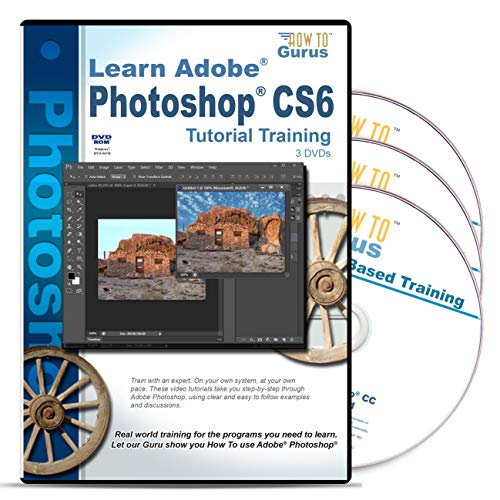 Adobe Photoshop CS6 Training on 3 DVDs 20 Hours 323 Video Lessons Computer Software Video Tutorials (Cs6 Adobe Photoshop)