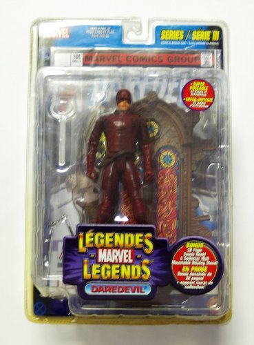 Very Rare Marvel Legends Series 3 Daredevil with Stain Glass Archway