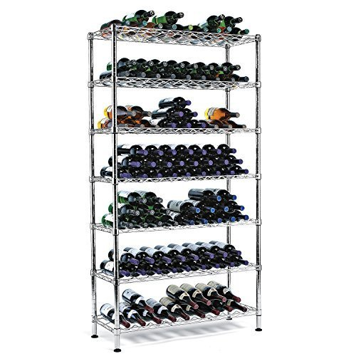 Steel Pantry Wine Rack (126 Bottles) by The Wine Enthusiast ()