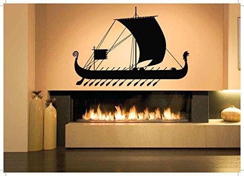 Wall Room Decor Art Vinyl Sticker Mural Decal Greek Roman Ship Boat Large AS1767