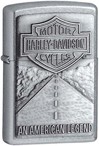 B0002ORHMS Zippo Harley Davidson Shield and American Legend Emblem Street Chrome Pocket Lighter 51IkxdK3TZL