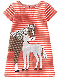 Little Boys Boys' Summer Crewneck Cartoon Cotton T-Shirt