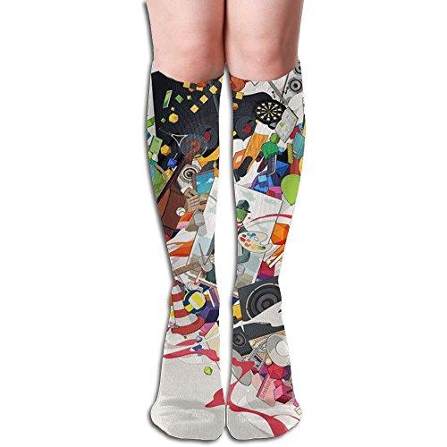 Running Art Women Knee High Socks High Thigh Stockings Over Knee High Boots Long Socks For Girls