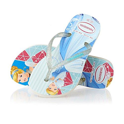 Havaianas Flip Flops - Havaianas Kids Slim Princess Flip Flops - White