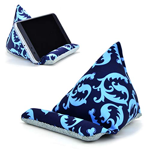 Fabric Phone Stands,Phone Pillow Holder for iPhone 8,Phone Sofa Bean Bag Cushion (Blue) by F-Q-T