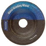 Norton Gemini Flexible Blending Depressed Center Abrasive Wheel, Type 27, Aluminum Oxide, 3/8'' Arbor, 2'' Diameter x 1/8'' Thickness, Grit 60  (Pack of 5)