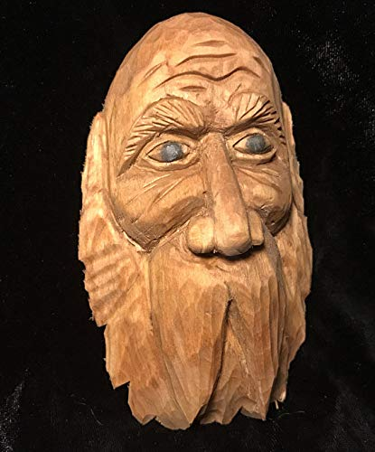 - Old Man Carving, Hand Carved, Wood Gift, Wood Spirit, Orc, Troll, Goblin, Silly, Hobbit, Sorcerer Old Man Wizard, Wall Art, OOAK