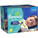 Pampers Extra Protection Diapers Size-5 Super Pack, 66-Count