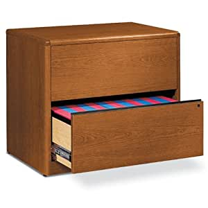 10700 Series Two-Drawer Lateral File, 36w x 20d x 29-1/2h, Mahogany
