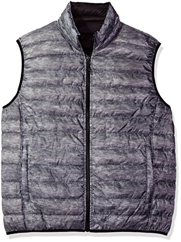 Hawke & Co Men's Reversible Down Vest, Grey Cloud, XX-Large