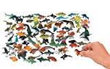 Fun Express Under The Sea Plastic Sea Life Creatures (90 Pieces)-Ocean Party Theme Favors and Decorations, Craft Supplies, Classroom Supplies