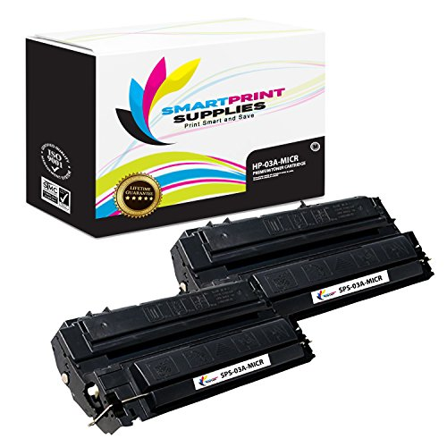 Smart Print Supplies Compatible 03A C3903A MICR Black Toner Cartridge Replacement for HP 5P 5MP 6P 2D 3D, Apple IIF IIG Printers (4,000 Pages) - 2 Pack