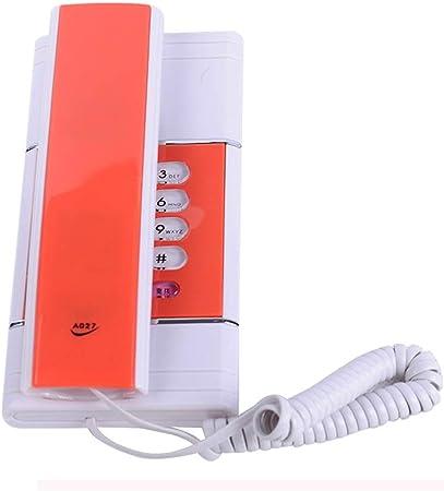 XAOBNIU Teléfono inalámbrico Teléfono Fijo Góndola Estilo Hotel Familiar a la Pared pequeña Extensión (Color : Orange): Amazon.es: Hogar