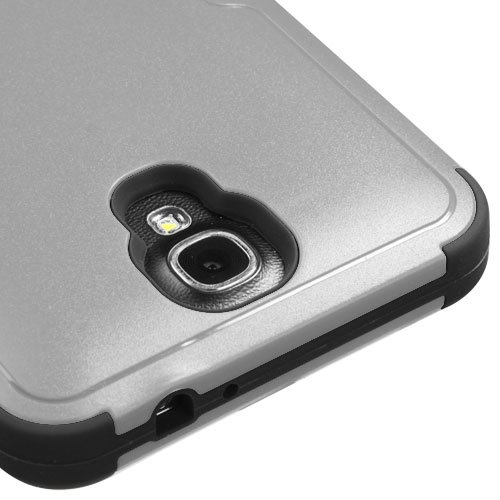 Galaxy Mega 2 Case, Kaleidio [Mybat Natural TUFF] Dual Layer Shock Proof Hybrid Case Cover w/ Metal Kickstand for Samsung Galaxy Mega II 2 G750F [Package Includes a Overbrawn Prying Tool & Stylux Stylus/Pen Dust Plug Combo] - Retail Packaging [Grey/Black]