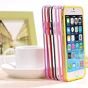 LIMME Backless Bumper Frame TPU and PC Cover for iPhone 6(Assorted Colors) , Rose