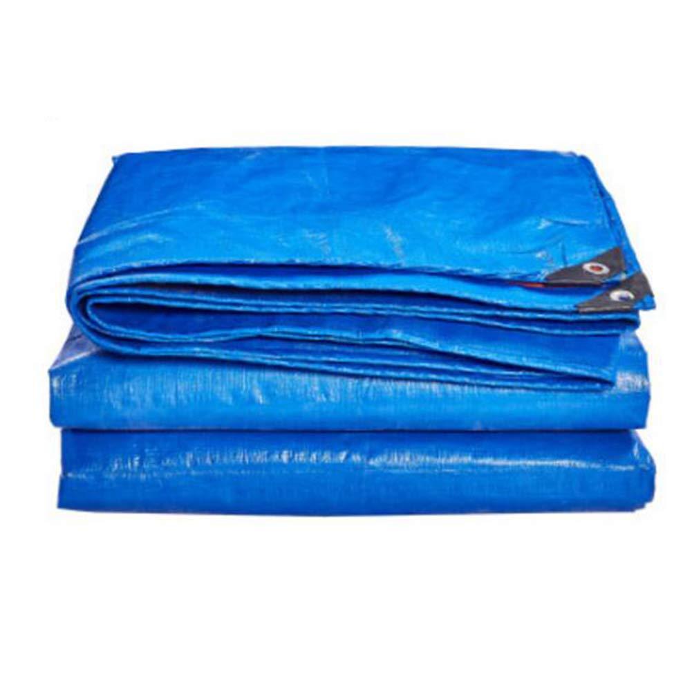 MuMa Telone Addensare Impermeabile Impermeabile Protezione Solare Ombra Tela All'aperto (colore   blu - arancia, Dimensioni   6  8m)