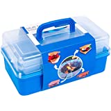 SUMPRI Smores Caddy with TWO FOLDING TRAYS -Keep Your Marshmallows & Roasting Sticks All In The Same Place -Perfect Kit For Smores Skewers & fire pit accessories (Blue)- ROASTING STICKS NOT INCLUDED