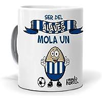 Taza Ser del Alaves Mola un Huevo. Cerámica AAA - 350 ml.