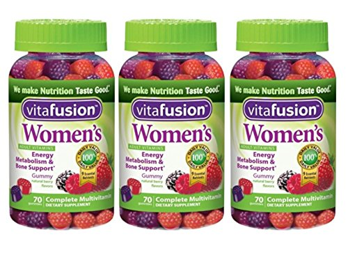 Vitafusion Women's Gummy Vitamins, Natural Berry Flavors, 70 Count (3 pack)