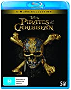Pirates of the Caribbean 5 Movie Box Set Collection Includes Dead Men Tell No Tales - Blu-Ray (Blu-Ray Box Set) (Artwork May Not Be Final)
