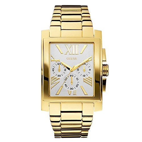 GUESS U0009G2 Silver Tone Chronograph dial Stainless Steel Bracelet Men Watch.