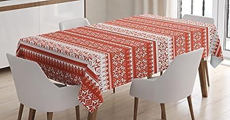 SWEDISH WOVEN TABLERUNNER  Vintage  Scandinavian  Swedish  Textile  Linen  Cotton  Red  Yellow  White  Rustic  Stunning