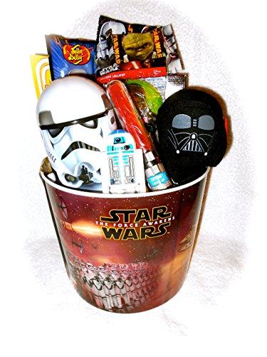 Star Wars Fun Filled Popcorn Movie Bucket Gift Basket
