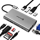 Intpw 11-in-1 USB C Hub, 4K USB C to HDMI...