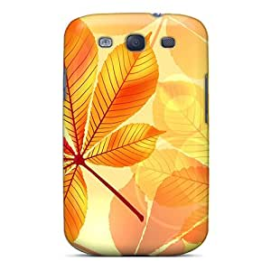 New Style Case Cover IcXKMaT1512qbMMT Leaves Of Gold Compatible With Galaxy S3 Protection Case