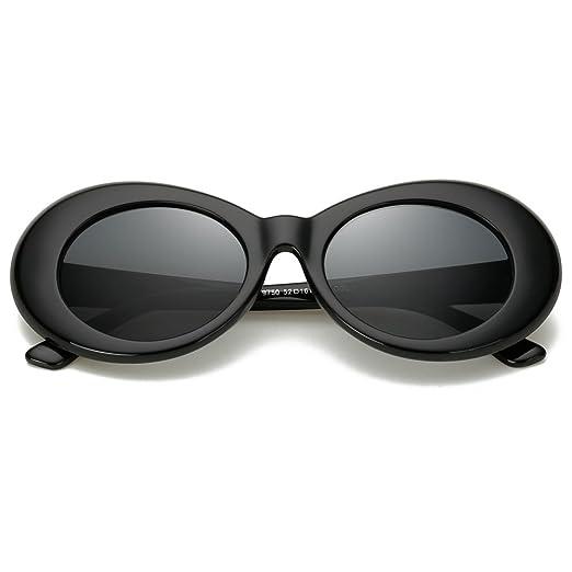 Amazon.com: Bold Retro Oval Mod Thick Frame Sunglasses,Wophain Round ...