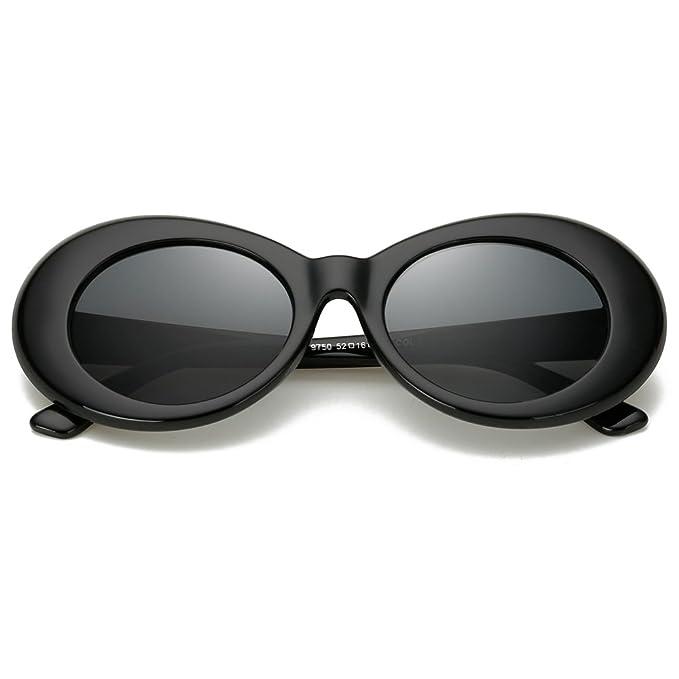 Amazon.com: Gafas de sol Bold Retro ovaladas con marco ...