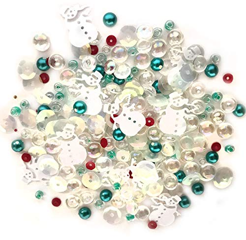 Buttons Galore Frosty Friends - Clear Acrylic Gems, Sequins, Flat Back Pearls - 3 Packs 36 ()
