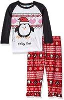 Bunz Kidz Little Girls' Toddler Chill Out 2 Piece Pajama Set, Black, 2T