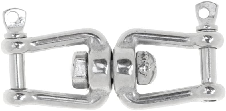 Jaw Silver M10 MagiDeal 304 Marine Grade Stainless Steel Chain Anchor Swivel Jaw