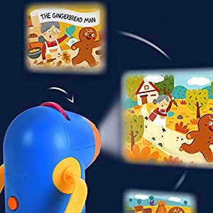 tackjoke Storybook Torch Light Flashlight for Kids, Multi-Function Projector Kaleidoscope Set Night Lamp Baby Toy with 8…