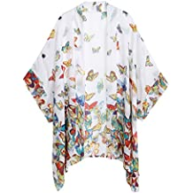 WEIYAN Women's Summer Tops Loose Chiffon Kimono Cardigan Blouse