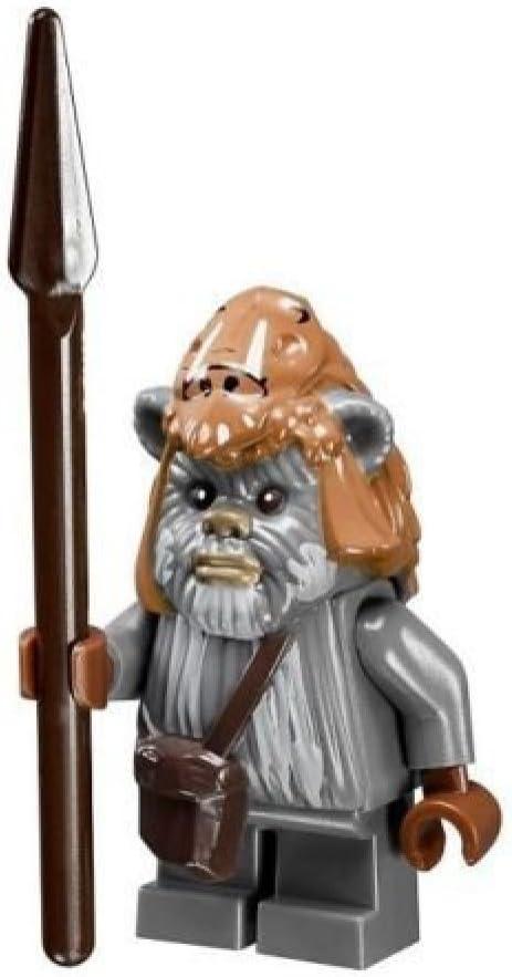 LEGO Star Wars Ewok Teebo minifigure with spear from Ewok Village (10236)